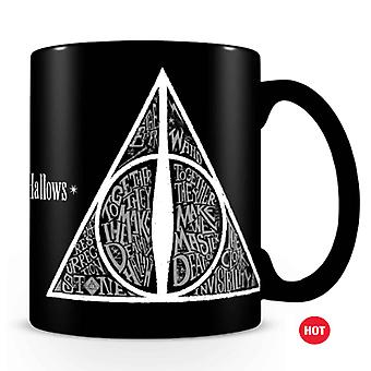 Harry Potter Mug Heat Changing The Deathly Hallows Emblem Official Black Boxed
