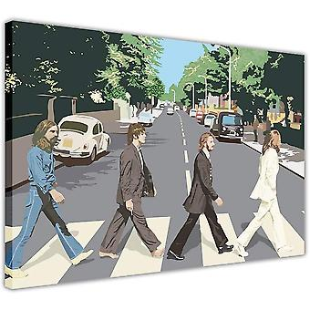 Die Beatles Abbey Road gerahmt Bild