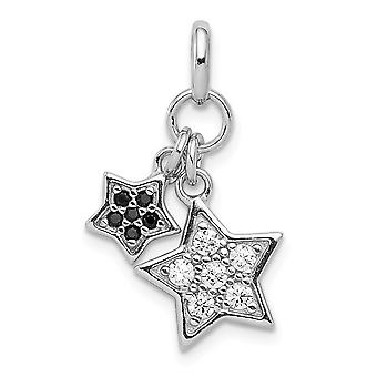 925 Sterling Silver Rhodium plaqué CZ Cubic Zirconia Simulated Diamond Star Pendant Necklace Bijoux Bijoux pour les femmes