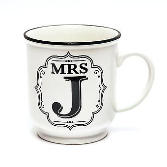 Histoire et Heraldry Alphabet Mug - Mme J