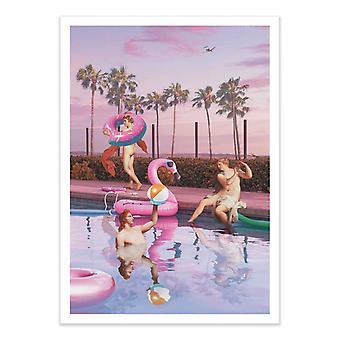 Art-Poster - Impreza przy basenie - Jonas Loose
