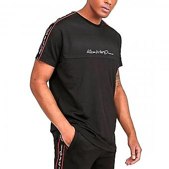 Kings Will Dream Delfour Geo Print Black Tape T-shirt