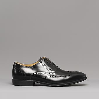 Steptronic Finchley Mens Leather Brogue Shoes Black