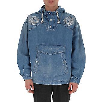 Alexander Mcqueen 599995qoy164001 Män's Ljusblå bomull ytterkläder Jacka