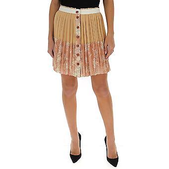 Chloé Chc20sju043306k9 Women's Nude Silk Skirt