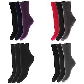 FLOSO Childrens Boys/Girls Winter Thermal Socks (Pack Of 3)