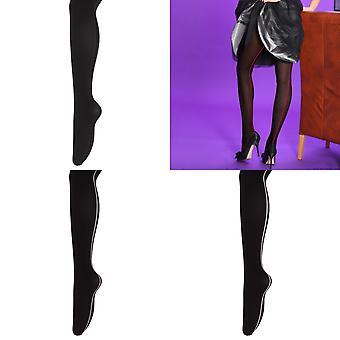 Silky Womens/Ladies Scarlet Opaque Backseam Tights (1 Pair)