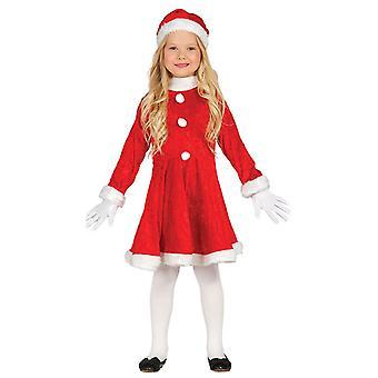 Meisjes mevrouw Claus kerst fancy dress kostuum