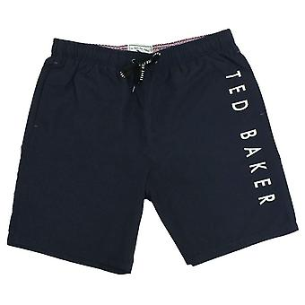 Ted Baker Gadget Branded Swim Shorts - Dark Navy