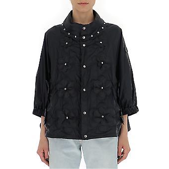 Moncler 46319505396u999 Women's Black Polyester Outerwear Jacket