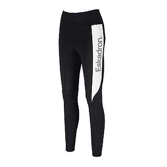 Eskadron Fanatics Womens Riding Tights - Black/white