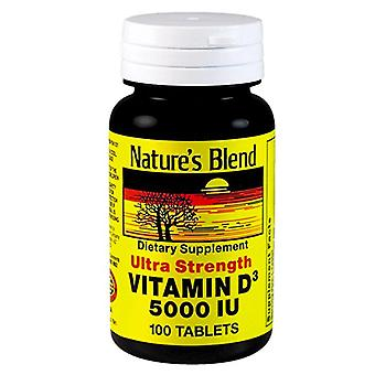 Nature's blend vitamin d3, 5000 iu, tablets, 100 ea