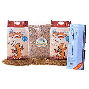 15Kg combo chubby dried mealworms & black soldier fly larvae (free dining station)