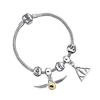 Harry Potter Heiligtümer und golden Snitch Charm Armband