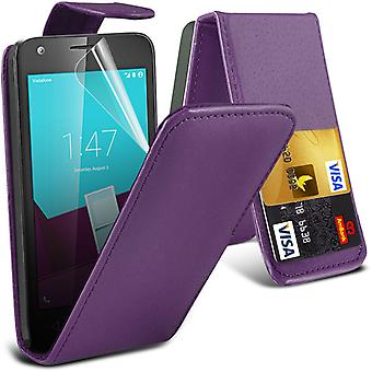 i-Tronixs Vodafone First 7 Case Cover PU Leather Flip Case Elagant Pouch -Purple