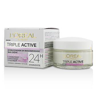 Triple active multi protective day cream 24 h hydration for dry/ sensitive skin 213614 50ml/1.7oz