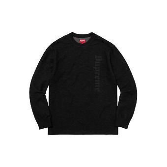 Supreme Reverse Terry L/S Top Black - Kleidung