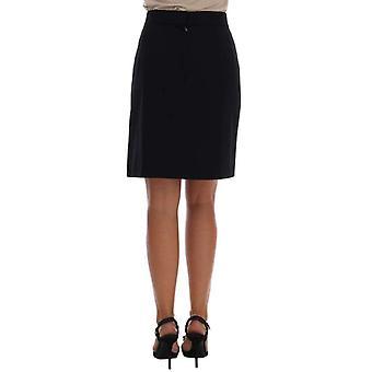 Dolce & Gabbana fekete kasmír egyenes ceruza szoknya