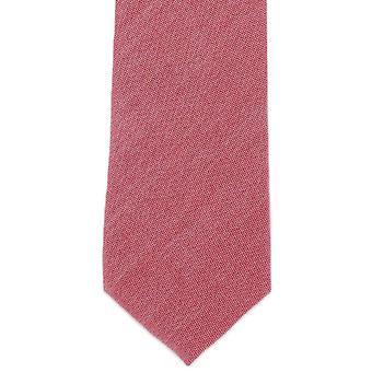 Michelsons Londyn zwykły bawełny Tie - czerwony