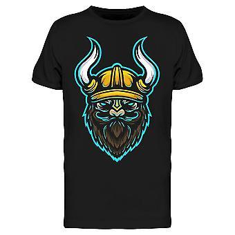 Viking Helmet Parrakas Kasvot Tee Miesten's -Kuva Shutterstock
