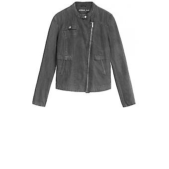 Sandwich Clothing Anthracite Linen Biker Style Jacket