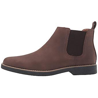 Deer Stags Mens Rockland Leather Almond Toe Ankle Fashion Boots