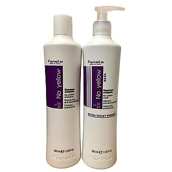 Fanola No Yellow Shampoo & Mask Set 11.8 OZ