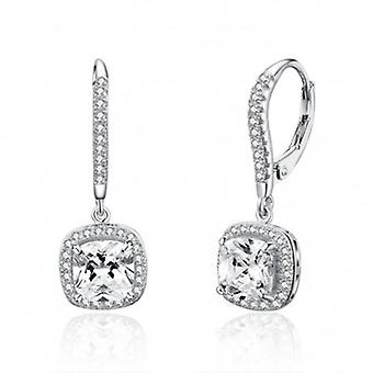 Silver Earrings Square - 6541