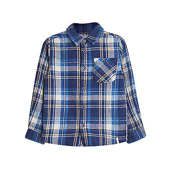 Esprit Boys' Cotton Flannel Shirt With A Check Pattern