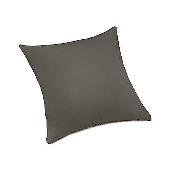 """Grau 100 % Baumwolle Twill 18"""" / 46cm Innen Sofa Scatter Kissen, gefüllt mit Hohlfaser Einsatz"""