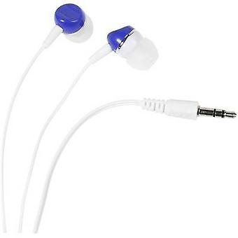Vivanco SR 3 BLUE Hi-Fi In-ear headphones In-ear White, Blue