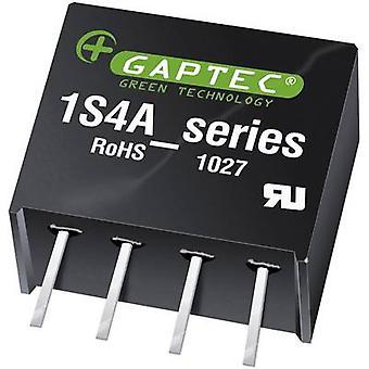 Gaptec 1S4A_1212S1.5UP DC/DC converter (print) 12 V DC 12 V DC 84 mA 1 W Nr. van de uitgangen: 1 x