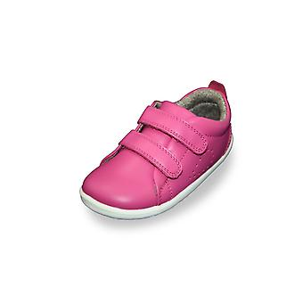Bobux step up grass court raspberry trainer shoes