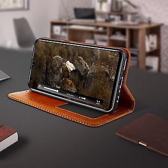 Protective Cover Honor 20 Lite / 20e Leather Vintage Effect Leather Brown