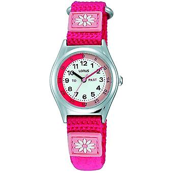 Lorus RG253KX-9 Childs Pink Strap Time Teaching Wristwatch