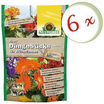Sparset: 6 x NEWDORFF Azet® FertilizerSauvat kukintakasveille, 40 tikkua