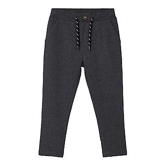 Namn-det Boys Sweat Pants Lewi mörkgrå blandning