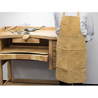 Heavy Duty Genuine Suede Leather Apron With Four Pockets, 20