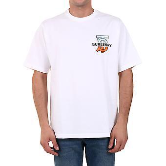 Burberry 8032186a1464 Männer's weiße Baumwolle T-shirt