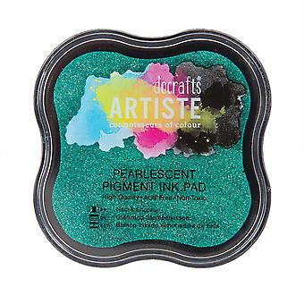 Docrafts Perlascente Pigmento Ink Pad - Mantis Green
