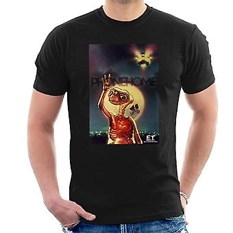 E.T. The Extra-Terrestrial Phone Home Montage Men's T-Shirt