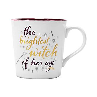 Harry Potter Mug Hermione Granger Brightest Witch new Official White Tapered