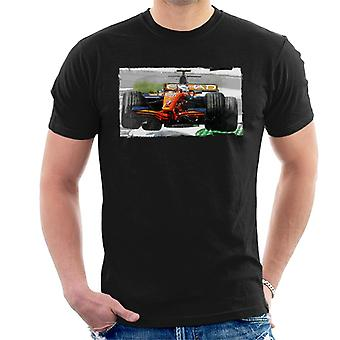 Motorsport Images Sutil Spyker F8 Ferrari Airborne Men-apos;s T-Shirt