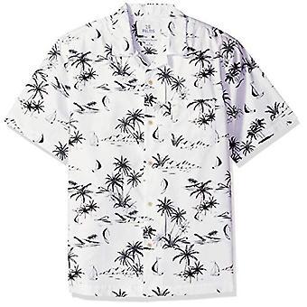 Merk - 28 Palms Men's Standard Relaxed-Fit 100% Cotton Tropical Hawai...