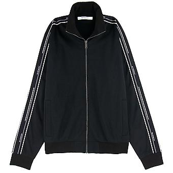 Givenchy zip felpa maglione Side Detail Nero