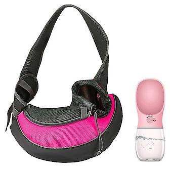 Mesh Oxford Single Comfort Sling - Pet Puppy Shoulder Bag  Carrier S/M for Outdoor & Travel