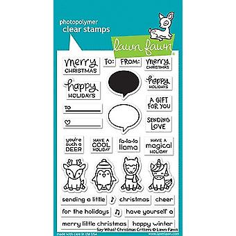 Lawn Fawn Clear Stamps - Say What? Christmas Critters