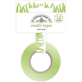 Doodlebug Design Zielona Trawa Washi Taśma
