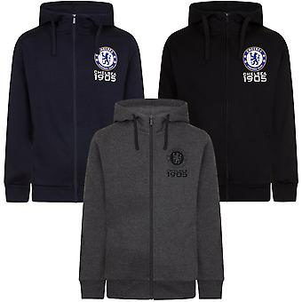 Chelsea FC Mens Hoody Zip Fleece OFFICIAL Football Gift