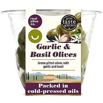 Real Olive Co. Garlic and Basil Olives